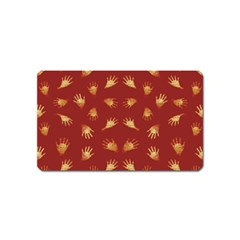 Primitive Art Hands Motif Pattern Magnet (name Card)