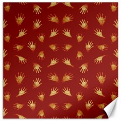 Primitive Art Hands Motif Pattern Canvas 20  X 20
