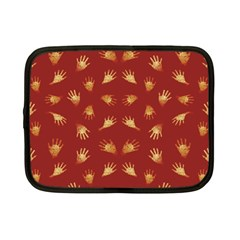 Primitive Art Hands Motif Pattern Netbook Case (small)