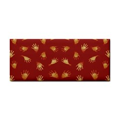 Primitive Art Hands Motif Pattern Hand Towel