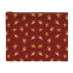 Primitive Art Hands Motif Pattern Cosmetic Bag (xl)