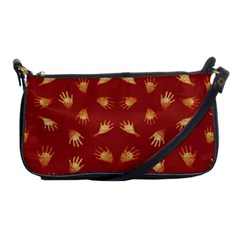 Primitive Art Hands Motif Pattern Shoulder Clutch Bags