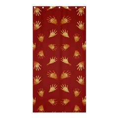 Primitive Art Hands Motif Pattern Shower Curtain 36  X 72  (stall)