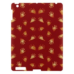 Primitive Art Hands Motif Pattern Apple Ipad 3/4 Hardshell Case