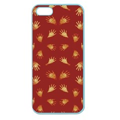 Primitive Art Hands Motif Pattern Apple Seamless Iphone 5 Case (color)