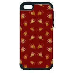 Primitive Art Hands Motif Pattern Apple Iphone 5 Hardshell Case (pc+silicone)