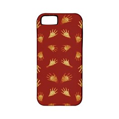 Primitive Art Hands Motif Pattern Apple Iphone 5 Classic Hardshell Case (pc+silicone)