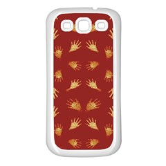 Primitive Art Hands Motif Pattern Samsung Galaxy S3 Back Case (white)