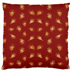 Primitive Art Hands Motif Pattern Standard Flano Cushion Case (two Sides)