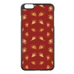 Primitive Art Hands Motif Pattern Apple Iphone 6 Plus/6s Plus Black Enamel Case