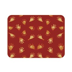 Primitive Art Hands Motif Pattern Double Sided Flano Blanket (mini)