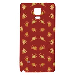 Primitive Art Hands Motif Pattern Galaxy Note 4 Back Case