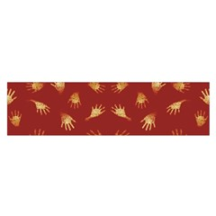 Primitive Art Hands Motif Pattern Satin Scarf (oblong) by dflcprints