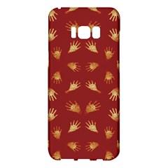Primitive Art Hands Motif Pattern Samsung Galaxy S8 Plus Hardshell Case