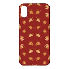 Primitive Art Hands Motif Pattern Apple Iphone X Hardshell Case