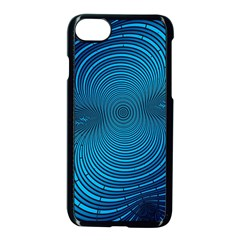 Background Brush Particles Wave Apple Iphone 7 Seamless Case (black)