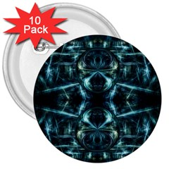 Abstract Fractal Magical 3  Buttons (10 Pack)