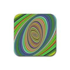 Ellipse Background Elliptical Rubber Coaster (square)  by Sapixe