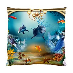 Dolphin Art Creation Natural Water Standard Cushion Case (two Sides)