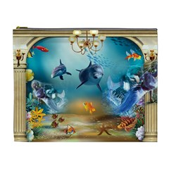 Dolphin Art Creation Natural Water Cosmetic Bag (xl)