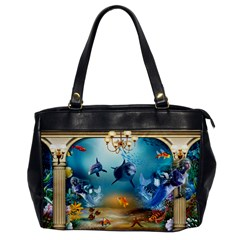 Dolphin Art Creation Natural Water Office Handbags
