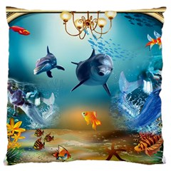 Dolphin Art Creation Natural Water Large Cushion Case (one Side)
