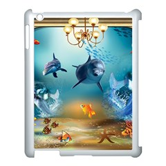 Dolphin Art Creation Natural Water Apple Ipad 3/4 Case (white)