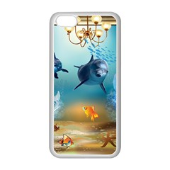 Dolphin Art Creation Natural Water Apple Iphone 5c Seamless Case (white)
