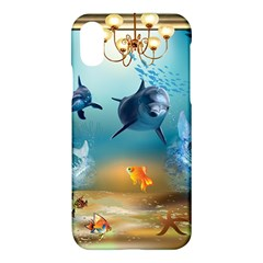 Dolphin Art Creation Natural Water Apple Iphone X Hardshell Case by Sapixe