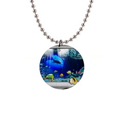 Dolphin Art Creation Natural Water Button Necklaces