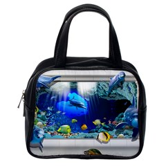 Dolphin Art Creation Natural Water Classic Handbags (one Side)