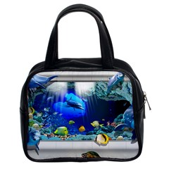 Dolphin Art Creation Natural Water Classic Handbags (2 Sides)