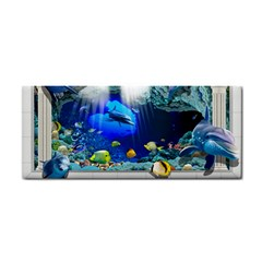 Dolphin Art Creation Natural Water Hand Towel