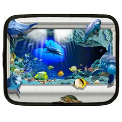 Dolphin Art Creation Natural Water Netbook Case (xl)