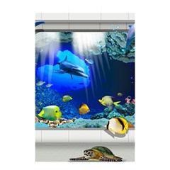Dolphin Art Creation Natural Water Shower Curtain 48  X 72  (small)
