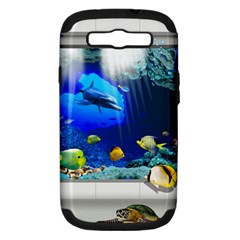 Dolphin Art Creation Natural Water Samsung Galaxy S Iii Hardshell Case (pc+silicone)