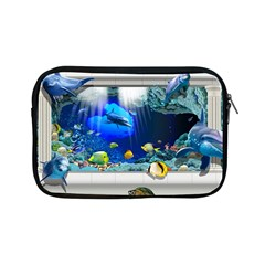 Dolphin Art Creation Natural Water Apple Ipad Mini Zipper Cases