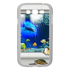 Dolphin Art Creation Natural Water Samsung Galaxy Grand Duos I9082 Case (white)
