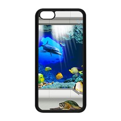 Dolphin Art Creation Natural Water Apple Iphone 5c Seamless Case (black)