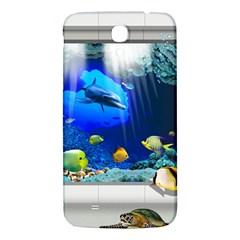 Dolphin Art Creation Natural Water Samsung Galaxy Mega I9200 Hardshell Back Case