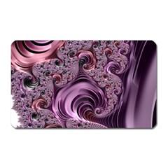Purple Abstract Art Fractal Magnet (rectangular)