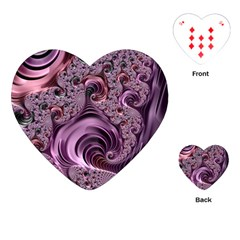 Purple Abstract Art Fractal Playing Cards (heart)