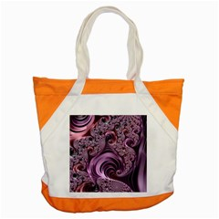 Purple Abstract Art Fractal Accent Tote Bag