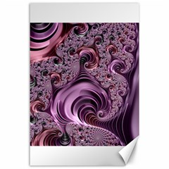 Purple Abstract Art Fractal Canvas 24  X 36