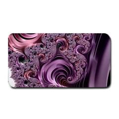 Purple Abstract Art Fractal Medium Bar Mats