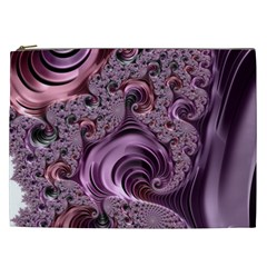 Purple Abstract Art Fractal Cosmetic Bag (xxl)