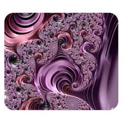 Purple Abstract Art Fractal Double Sided Flano Blanket (small)