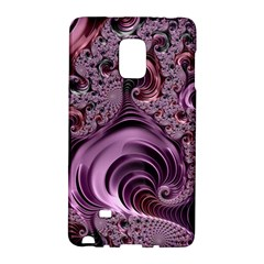 Purple Abstract Art Fractal Galaxy Note Edge