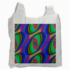 Ellipse Pattern Elliptical Fractal Recycle Bag (two Side)