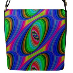 Ellipse Pattern Elliptical Fractal Flap Messenger Bag (s)